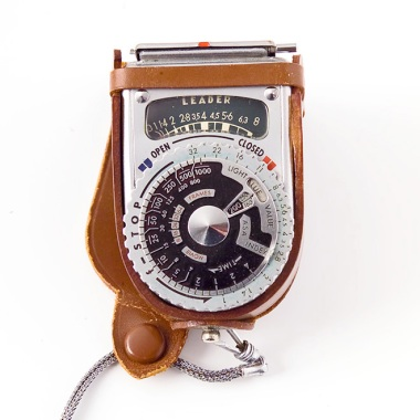 A Sekonic Meter, circa 1955. A meter has always been a wonderful tool. It was probably a lot easier to understand theneed for a light meter when there were NO cameras with built in meters at the time. And no LCD screens to preview.